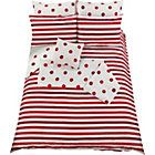 Argos clearance £18.74 Spots and Stripes Red Bed in a Bag - Double.