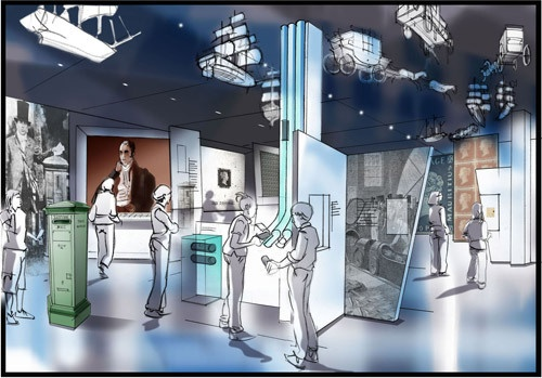 "Visualisation of our new exhibition space - Zone 2: ""Reform and Innovation""."