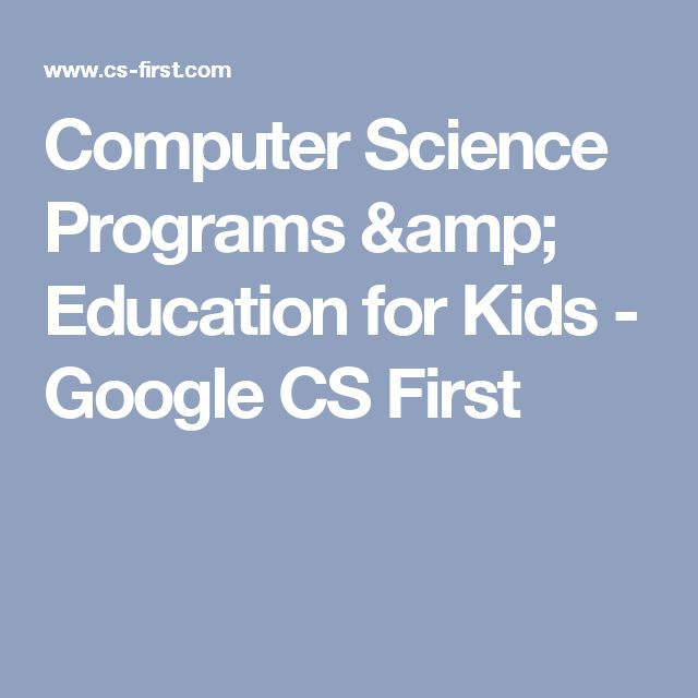 Computer Science Programs & Education for Kids - Google CS First