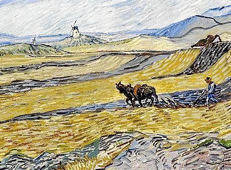 El «campo cercado» de Van Gogh veranea en la Fundación Lázaro Galdiano de Madrid