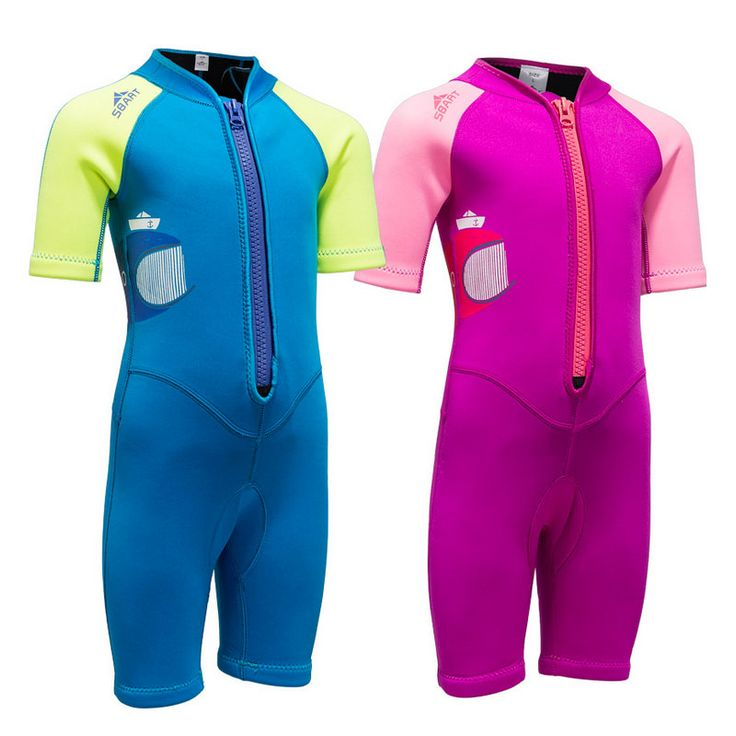 C190 2MM diving suits boys and girls children jellyfish clothes sunshine surfing thick piece of warm swimsuit snorkeling