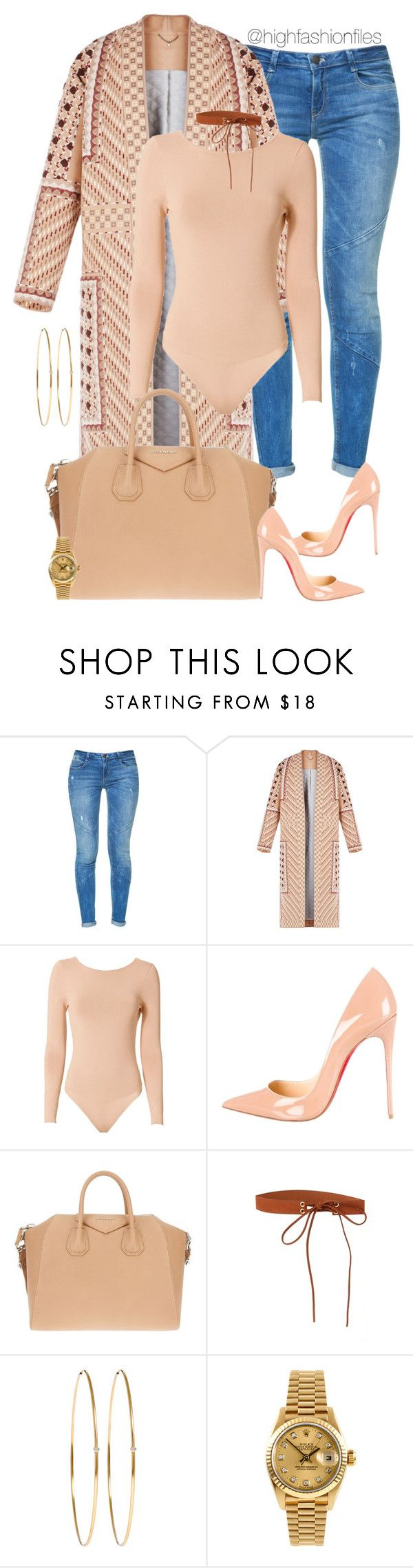 """Untitled #2641"" by highfashionfiles ❤ liked on Polyvore featuring Zara, BCBGMAXAZRIA, Exclusive for Intermix, Christian Louboutin, Givenchy, Jennifer Meyer Jewelry and Rolex"