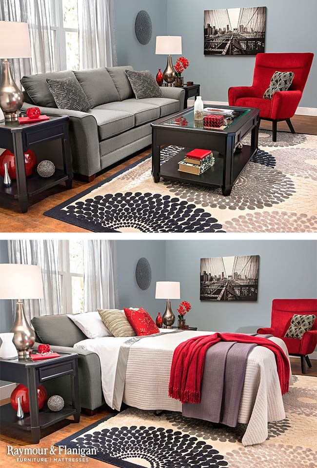 This new Kelton sleeper sofa will be a hit with your guests! Its modern look is great for your living space, while its comfortable mattress makes it the perfect place for your friends and family to spend the night.