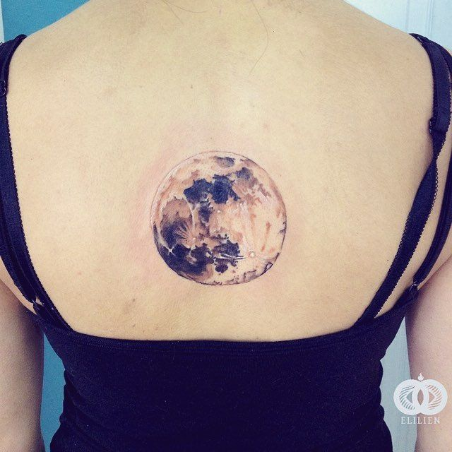 https://flic.kr/p/JktaLd | Luna 3. #elilien #水彩 #акварель #color #tattoo #tatuaje #тату #tatouage #tat #moon #luna #planet #space #tattooideas…