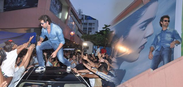 In Pics: Hrithik Roshan celebrates success of Krrish 3 with his fans  Bollywood actor Hrithik Roshan is on cloud nine these days. His film Krrish 3 is on a record breaking spree. The action film has crossed Rs. 100 cr in just four days.  http://daily.bhaskar.com/article/ENT-in-pics-hrithik-roshan-celebrates-success-of-krrish-3-with-his-fans-4425029-PHO.html