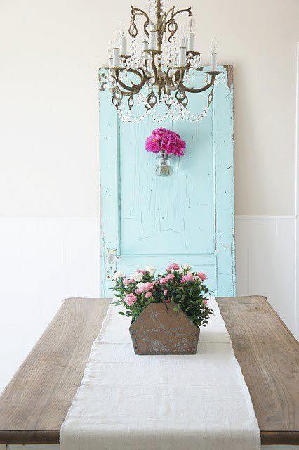 .: The Doors, Grains Sacks, Blue Doors, Shabby Chic, Doors Color, Farmhouse Tables, Antiques Doors, Old Doors, Vintage Doors