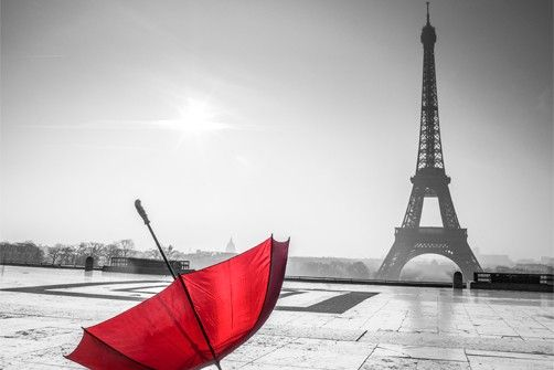17 best images about the beauty of the color red on for Eiffel tower mural black and white