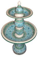 Handmade Moroccan Turquoise Ceramic Water Fountain | ... | Fountains | Indoor Outdoor Ceramic Fountain Moroccan Turquoise