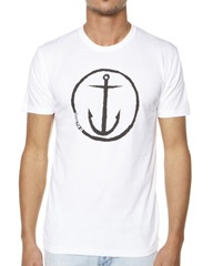 CAPTAIN FIN CO. ORIGINAL ANCHOR TEE - WHITE on http://www.surfstitch.com