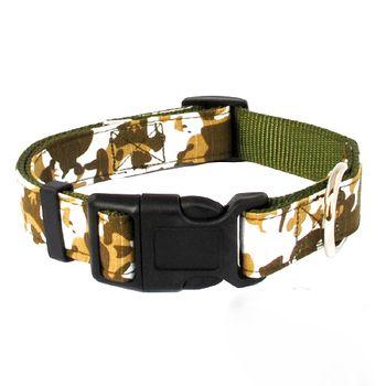 Dog Collar Military Camouflage Nylon Neck Strap 2.5cm