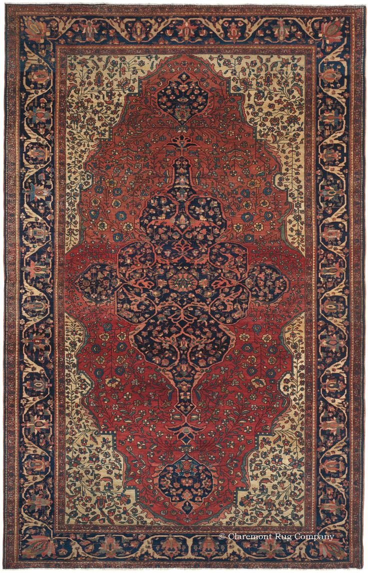 FERAHAN SAROUK - West Central Persian 6ft 8in x 10ft 4in 3rd Quarter, 19th Century