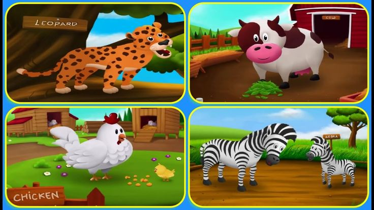 Compilation Wild  And Farm Animals | Sounds And Name of Animals for Kids