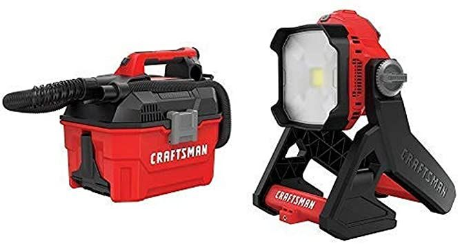 Craftsman V20 Cordless Shop Vac 2 Gallon Wet Dry With Led Work Light Tools Only Cmcv002b Amp Cmcl030b In 2020 Led Work Light Shop Vac Outdoor Power Equipment