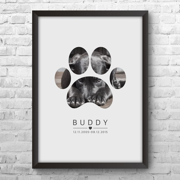 Add your dog's photo! Personalised Print and Gifts From The Little Gift Factory - Personalised Art Gifts For Him and Her. Picture Poster Gifts For Weddings, Birthdays Baby Child