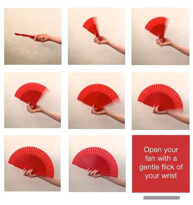 Flamenco Technique {How to open a flamenco fan}