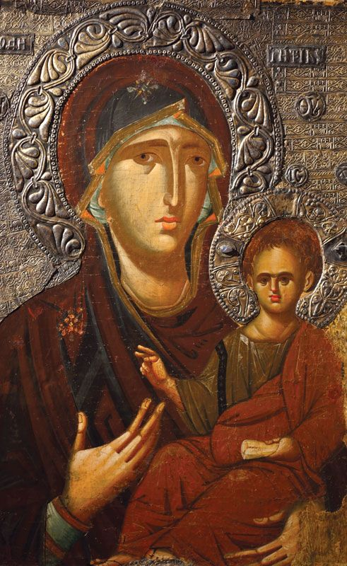 Mother Panagia and Jesus child