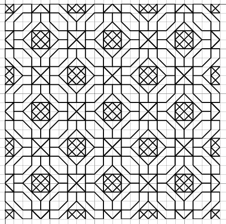 free blackwork embroidery fill pattern includes single section pattern
