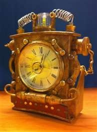 79 best images about steampunk clocks misc on pinterest - Steampunk mantle clock ...