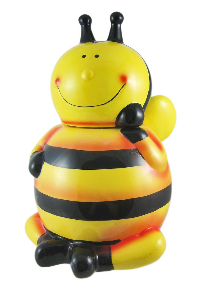 Scratch And Dent Incredibly Cute Bumblebee Ceramic Cookie Jar Bee