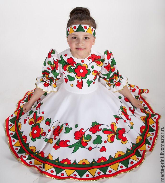 Купить Матрешка - разноцветный, русский костюм, русский народный костюм, русская одежда, русская рубаха