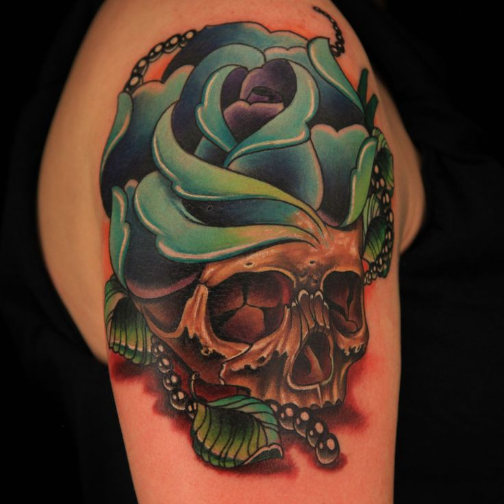 "Check out this high res photo of Katherine ""Tatu Baby"" Flores's tattoo from the Double Tattoo episode of Ink Master on Spike.com."