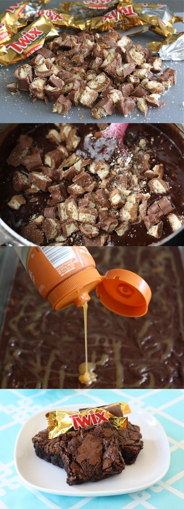 ... Twix Brownies op Pinterest - Brownies, Chocolade en Brownie Recepten