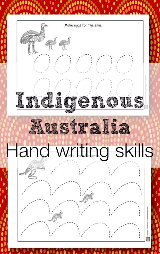 Indigenous Australia early handwriting activities. www,teachezy.com www.earlychildhoodteachezy.com