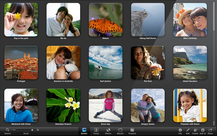 full screen iphoto