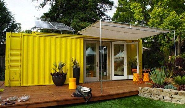 Casa ecológica construida con contenedores reciclados
