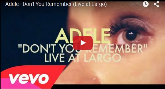 Watch: Adele - Don't You Remember (Live at Largo) See lyrics here: http://adelelyric.blogspot.com/2012/12/dont-you-remember-lyrics-adele.html #lyricsdome