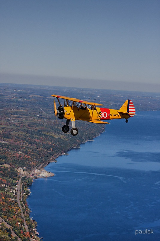 PT17 over Seneca Lake