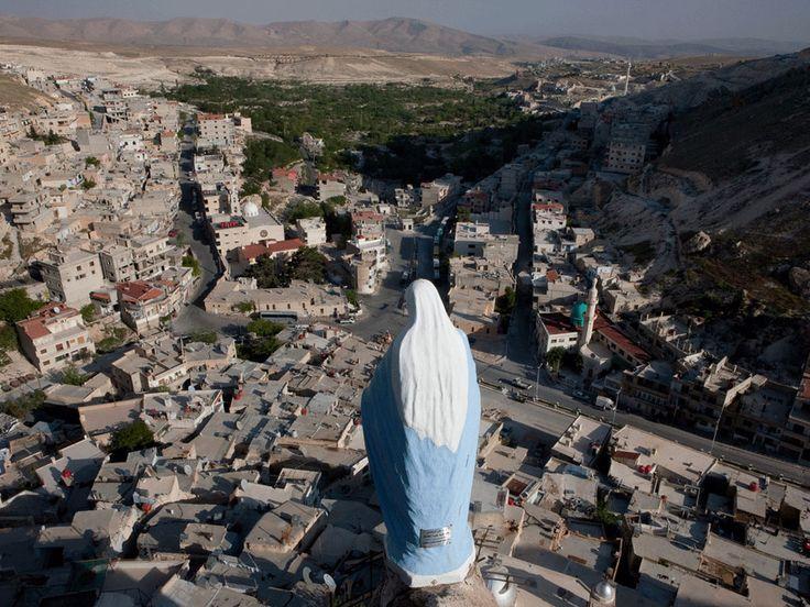 SYRIE - Village de Maaloula situé à 55 km au nord de Damas, cœur du christianisme des origines où l'on parle encore l'araméen, la langue du Christ,