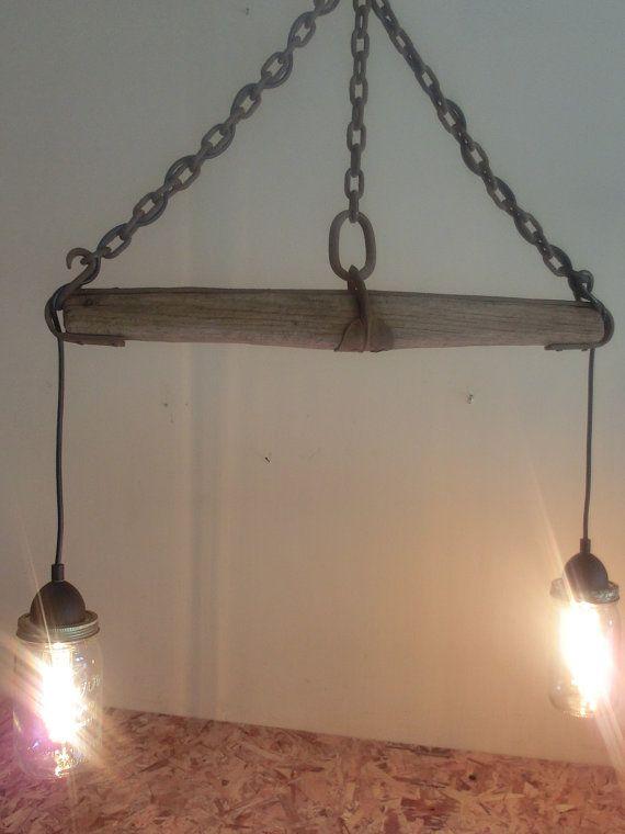 mason jar light singletree or whippletree rustic chandelier pendant light kitchen
