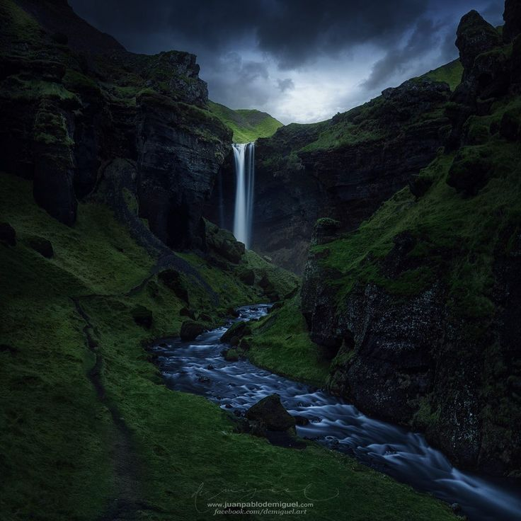 Kvernufoss, Skógar / Southern Ring Road, Iceland by Juan Pablo de Miguel Follow @travelgurus for the best Tumblr landscapes