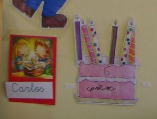 Menta Más Chocolate - RECURSOS y ACTIVIDADES PARA EDUCACIÓN INFANTIL: Actividad para realizar en los CUMPLEAÑOS