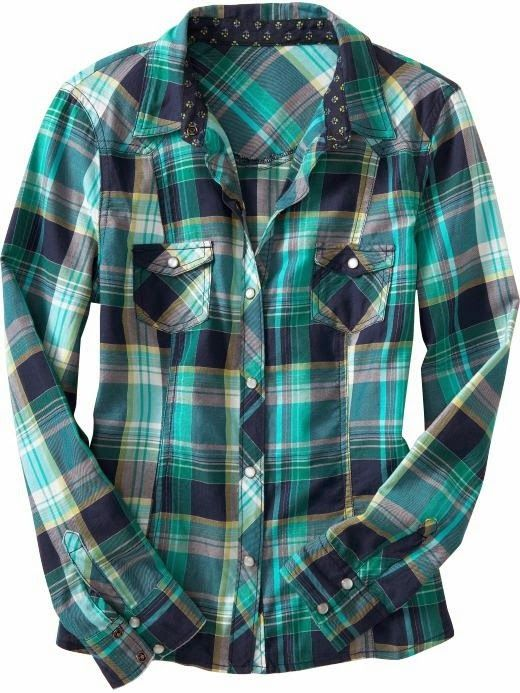 Women's Plaid Western Shirt