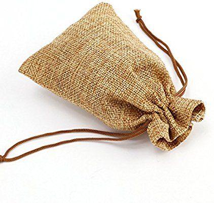8136c35f1 20pcs Bolsa de Organza Arpillera Bolsitas de yute Bolsitas de tela de saco  para decorar boda