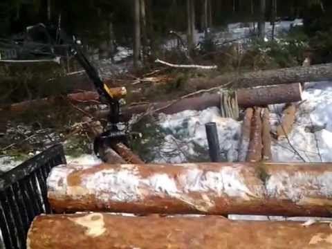 Työhevoset metsätöissä - YouTube