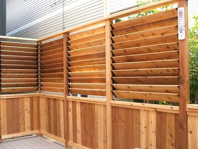 Shutter Style Fencing Google Search Small Deck Designs Small Deck Patio New Patio Ideas