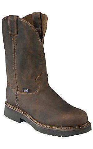 Justin Original Workboots Men's Rugged Bay Gaucho Brown JMAX Steel Toe Pull On Boot | Cavender's