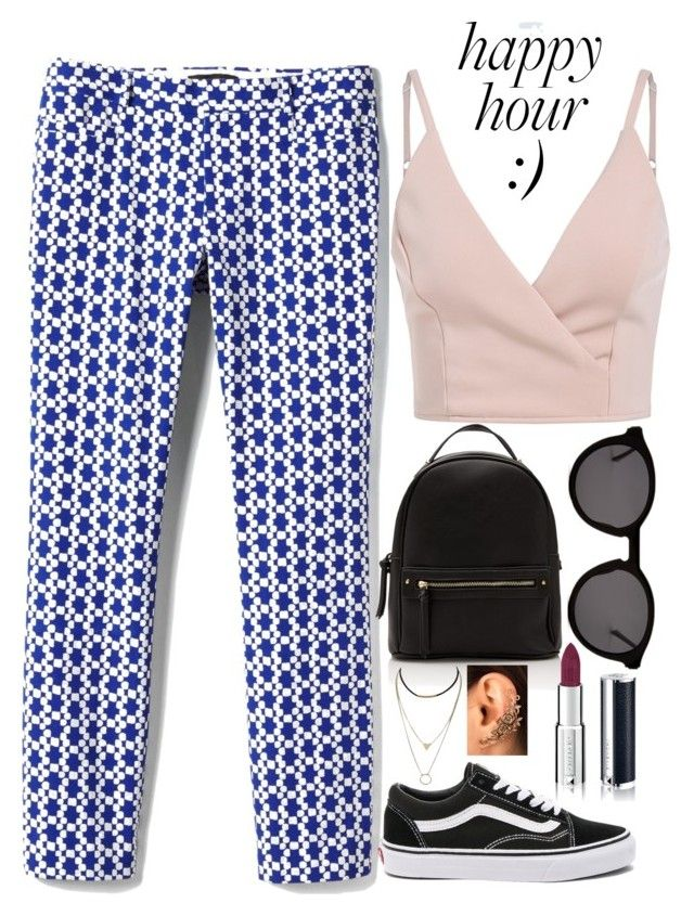 """Not so blue."" by cris05 on Polyvore featuring Banana Republic, Vans, Thierry Lasry and Givenchy"