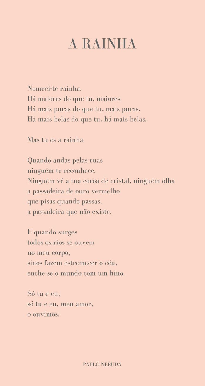 In other words: hoje, com Pablo Neruda