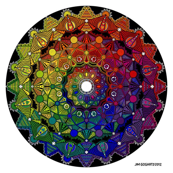 Mandala drawing 59 mandala-jim.deviantart.com/art… gets the multicolour treatment in Photoshop CS6. I've decided to name this piece Time Dilation as time felt very distorted whilst I was col...
