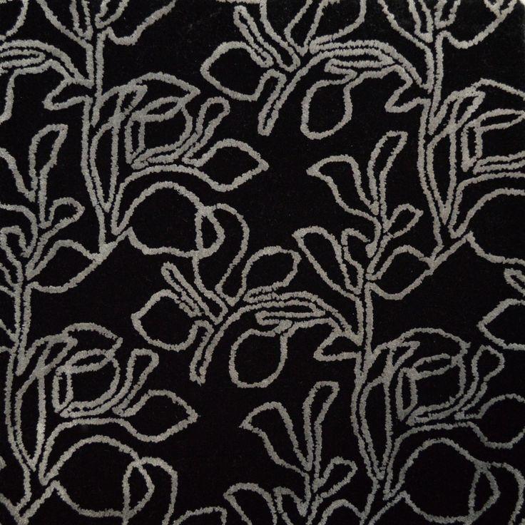 """""""Etched Botanical II"""" Kalogridis International Custom luxury aircraft carpet."""