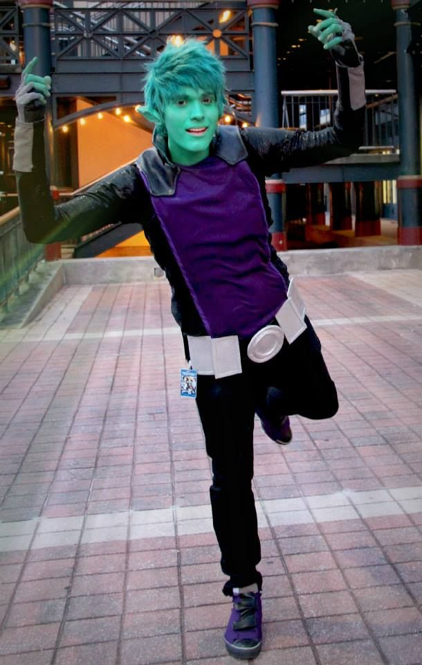Non-latexy Beast boy cosplay!