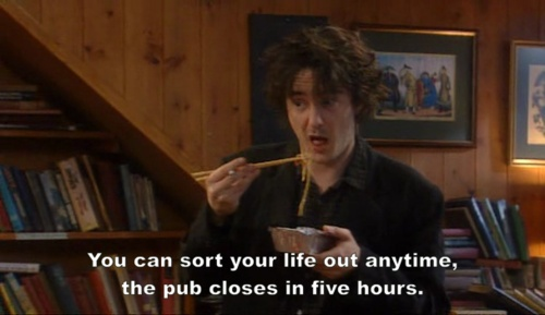 "Dylan Moran, my absolute favorite comedian. This is ""Black Books"" a show well worth looking up and watching a marathon of episodes."