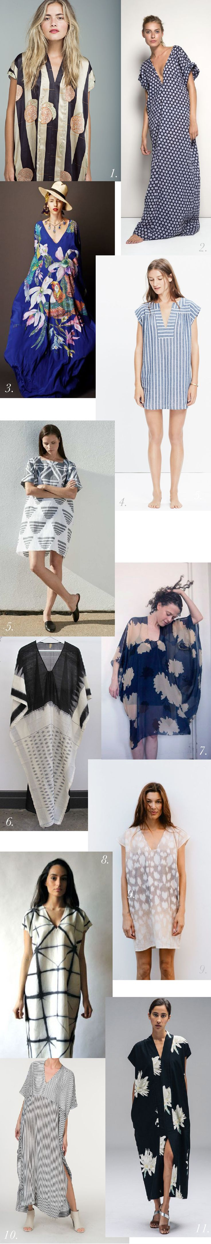 Dramatically printed caftans https://closetcasepatterns.com/the-charlie-caftan-pattern-inspiration-styling/