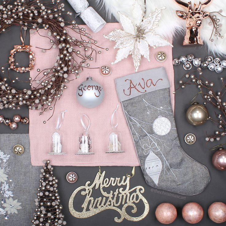 Pastels & Pearl Christmas Theme Flatlay Photography | The Christmas Cart
