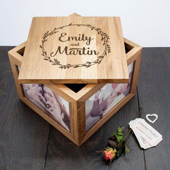 Couple's Large Keepsake Box Wreath Design - Wedding Gift - For The Bride…