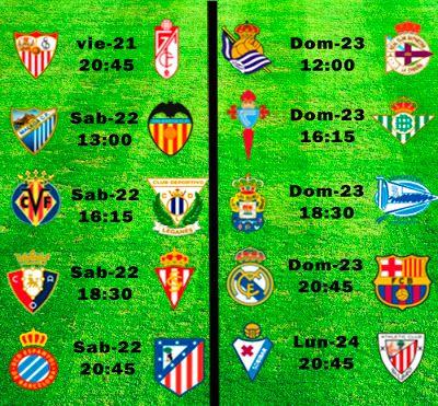 La Liga Full: Horario Jornada 33